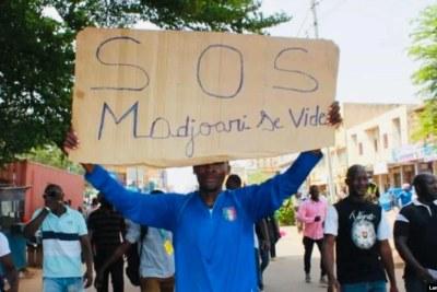 Une manifestation pour dire non à l'insécurité à Madjoari, Ouagadougou, le 5 juillet 2021.