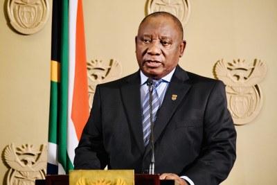 Président Cyril Ramaphosa