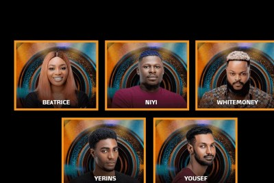 Beatrice, Yerins, Whitemoney, Yousef, and Niyi were put up for possible eviction.