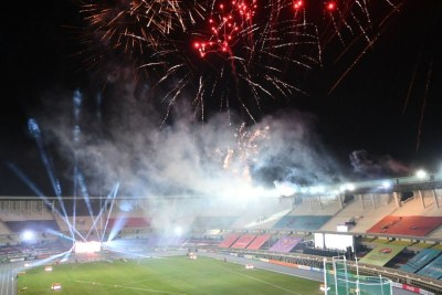 Fireworks lit up the sky at the opening ceremony of the 2021 World Under-20 Athletics Championship at Kasarani on August 17, 2021.