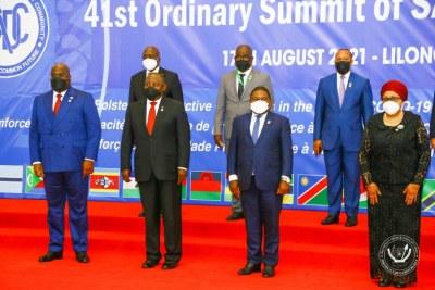 41ème sommet des chefs d'Etat la SADC au Malawi