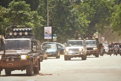 A military parade in Conakry on September 6, 2021, the day after a military coup in the country.