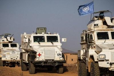Des Casques bleus de la MINUSMA dans la région de Kidal, dans le nord du Mali (archives).