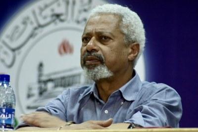 Romancier de Zanzibar et lauréat 2021 du prix Nobel de littérature, Abdulrazak Gurnah.